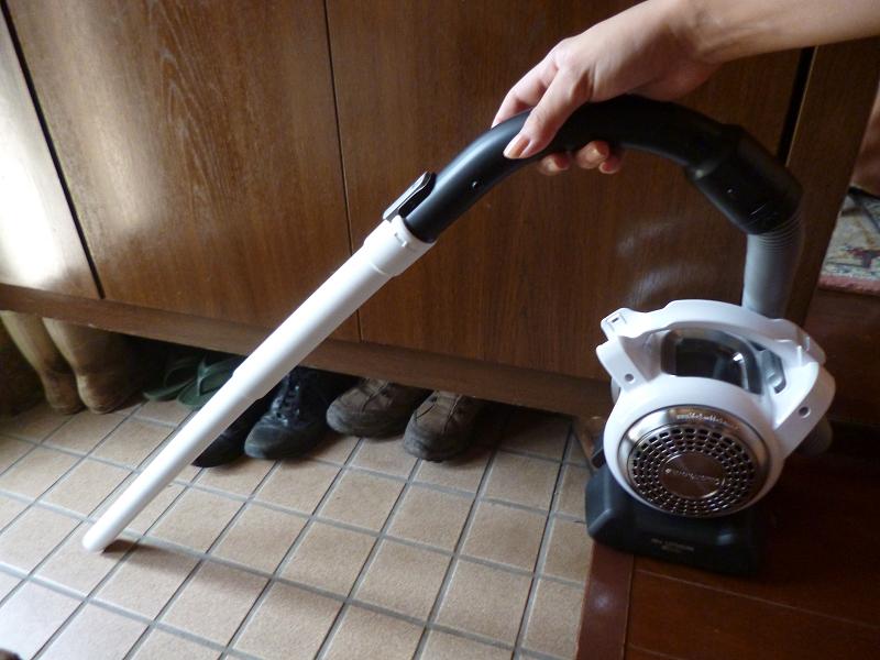 玄関などの低いところの掃除にも便利だ