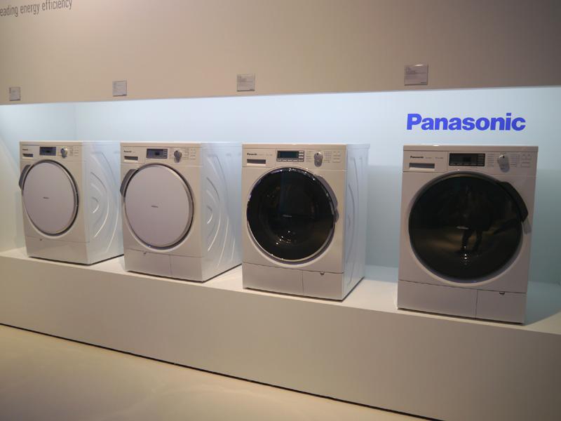 欧州市場向けに開発した洗濯機。パナソニックは2009年に欧州市場に参入、高付加価値としてのブランドを浸透させてきた