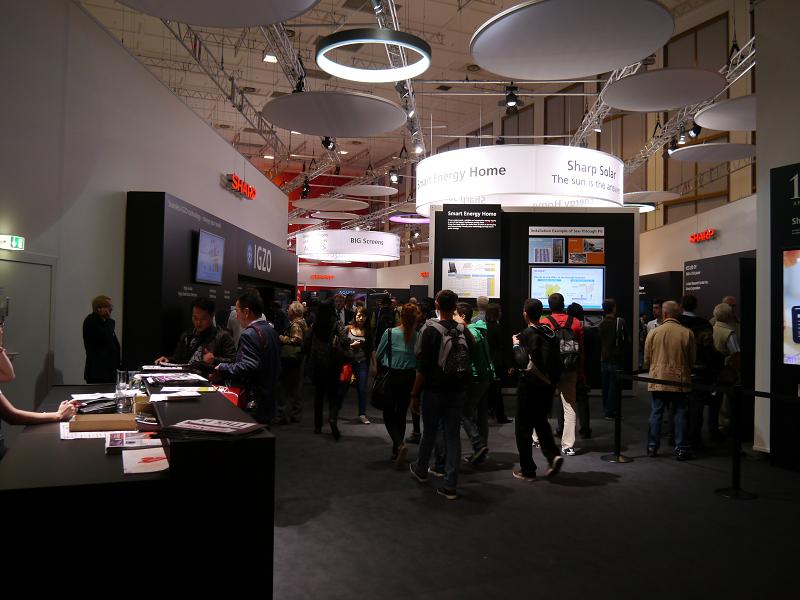 IFA 2012のシャープブース