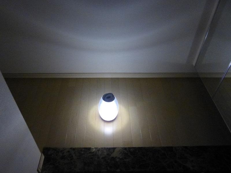 玄関のような小さなコーナーには十分な明かり