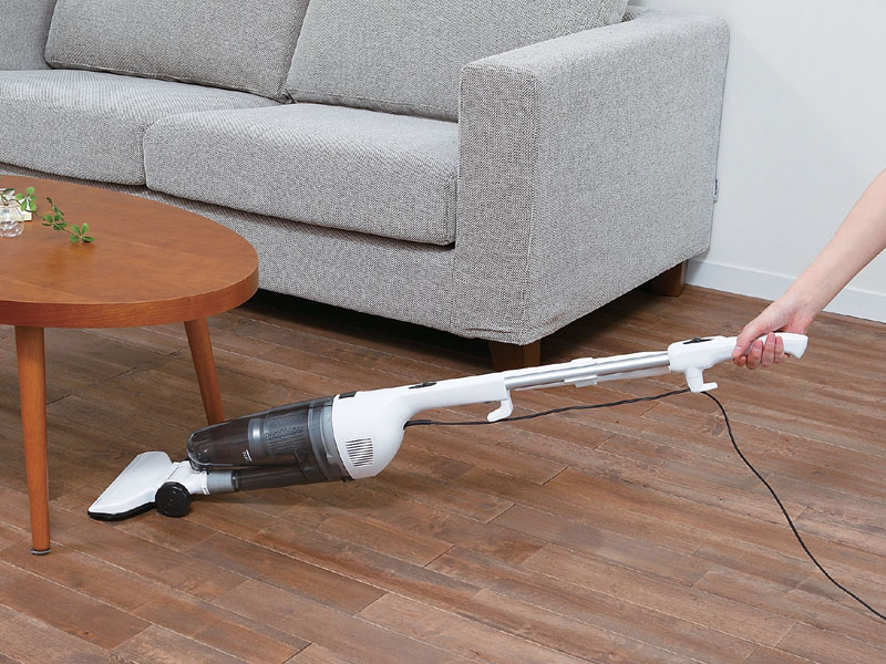 家具の下などは、ヘッド部が平らになるので掃除しやすい