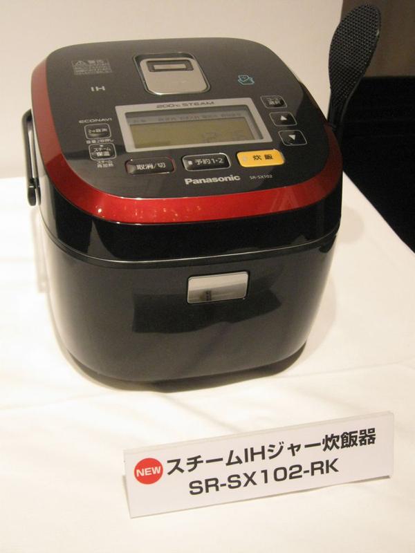 パナソニック「スチームIHジャー炊飯器」SR-SX102。※カラーは写真のルージュブラックのほかホワイト。実勢価格は67,700円前後