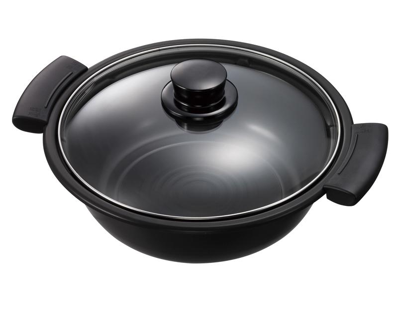 ガラスふたを採用した鍋が付属する