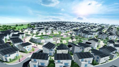 Fujisawa サウスティナブル・スマートタウンの完成予想図