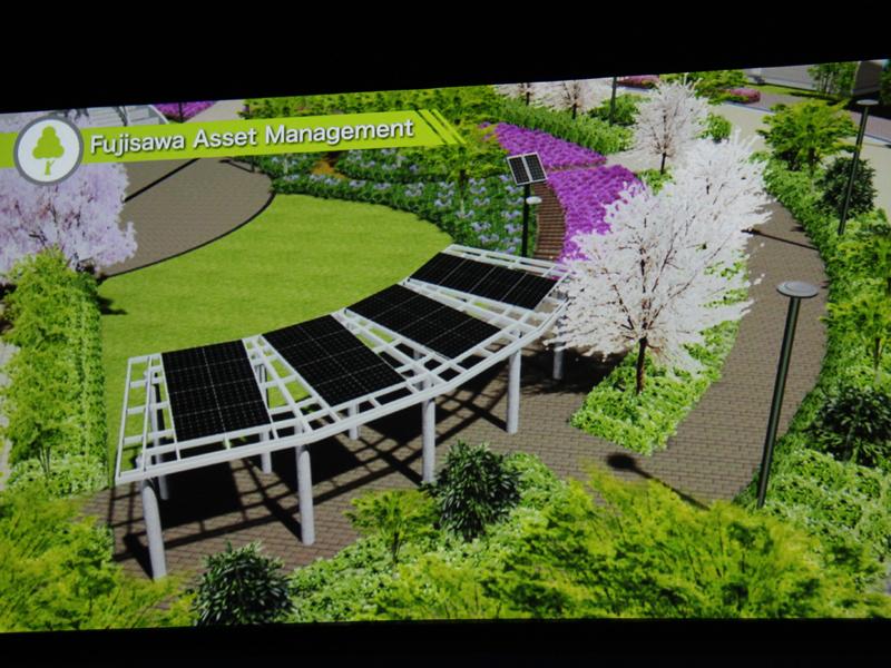 スマートタウンで発電→売電した電気を、街の緑化として利用する「Fujisawa アセットマネジメント」
