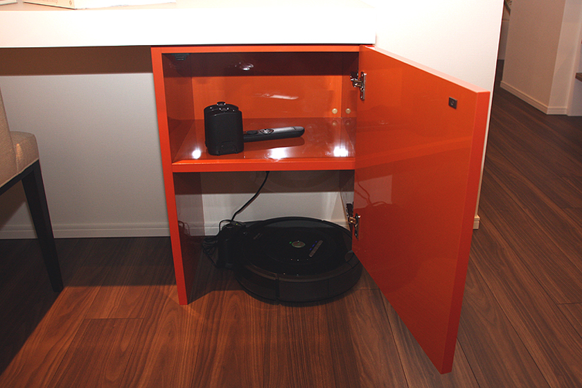 ルンバの充電兼収納スペースを確保した「ルンバ対応型モデルルーム」