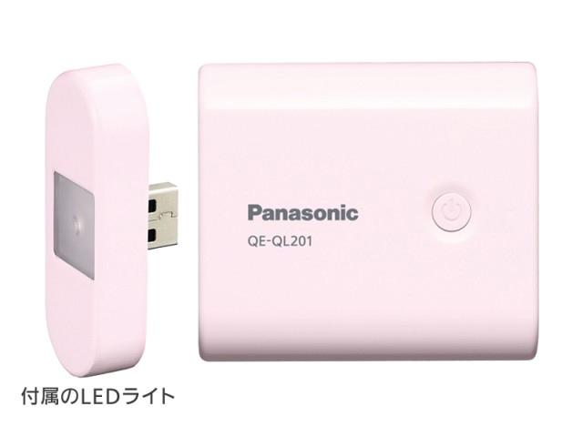QE-QL201-PとQE-QL101-Pには、USB接続のLEDライトが付属する
