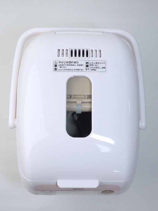 「具入れ容器」をつけた状態で上から見た状態。ふたに窓がついているため、調理時の様子がわかる