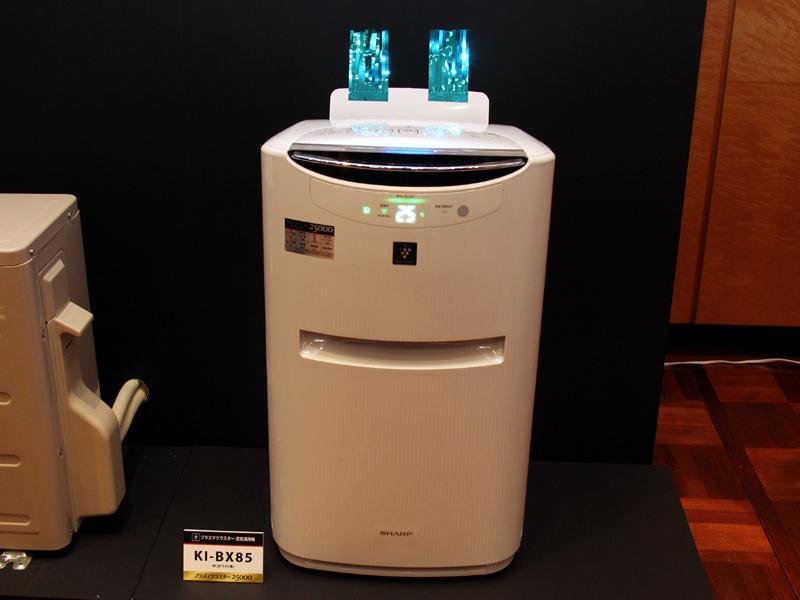 加湿空気清浄機「KI-BX85」との連動機能も備える