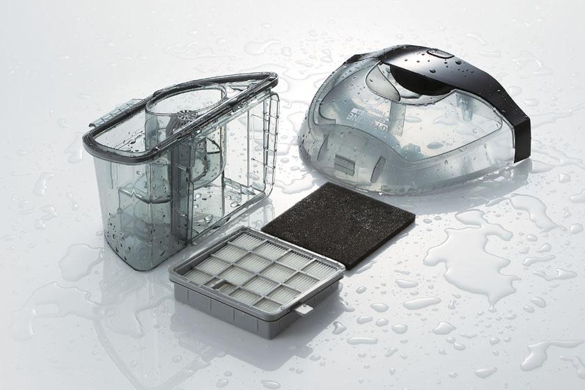 ダストケースやフィルターなどは水洗いに対応する