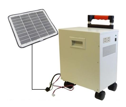 別売りのソーラーパネルに接続できる「キャリ電350S」