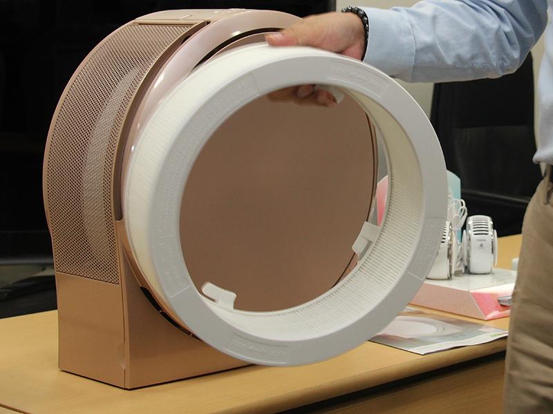 こちらが空気清浄用のフィルター。5年で交換となる
