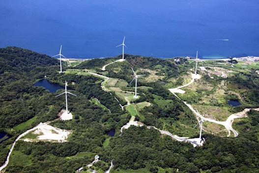 淡路風力発電所全景