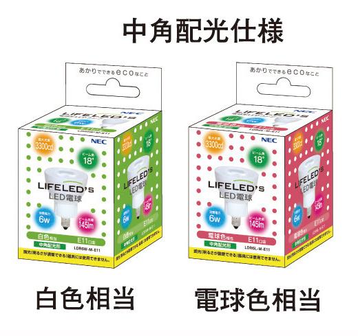電球色のほか、白色タイプも販売される