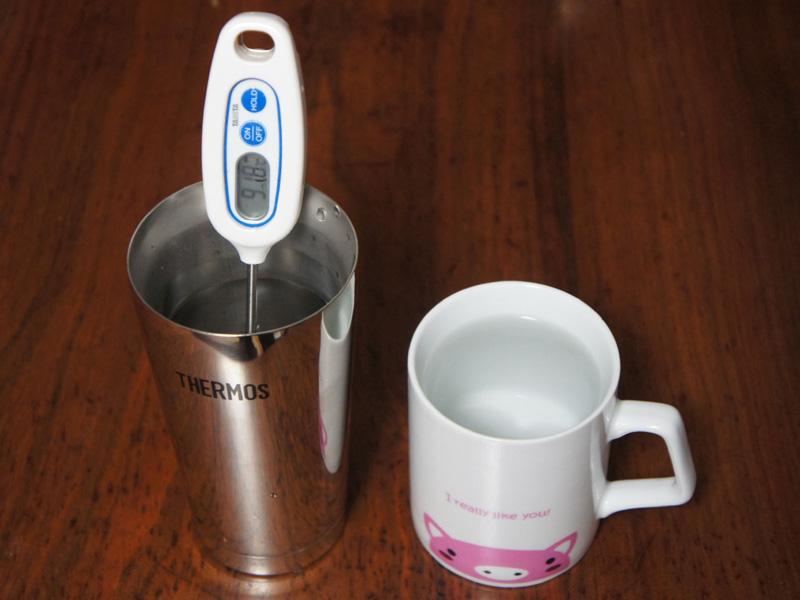熱い飲物も保温効果は抜群