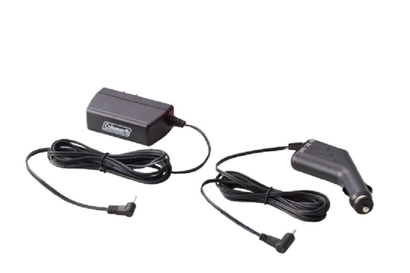 「CPX6充電キットハイパワー」に付属する、ACアダプターとDC12Vカーアダプター