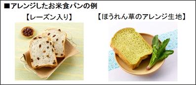 左側はレーズン入り、右側は生地にほうれん草を練り込んでアレンジしたパン