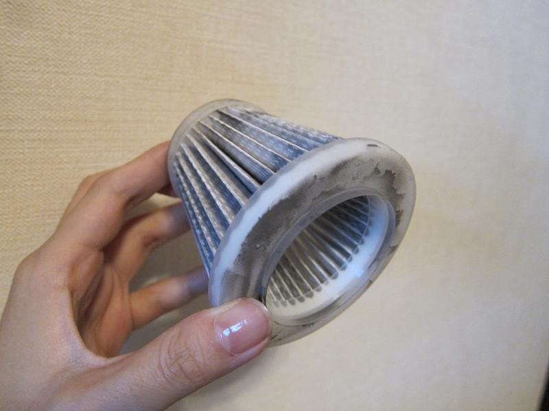 HDフィルターは、隙間を柔らかいブラシなどでこする