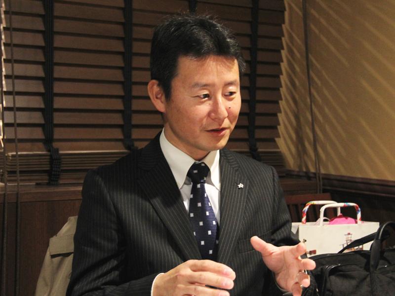 象印マホービン株式会社 第一事業部の後藤譲マネージャー。極め羽釜のおいしさの秘密を知るキーマンだ