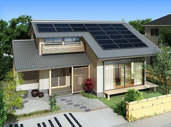 日本では東芝の太陽光発電システムに、サンパワーのパネルが搭載されている。画像は設置イメージ図