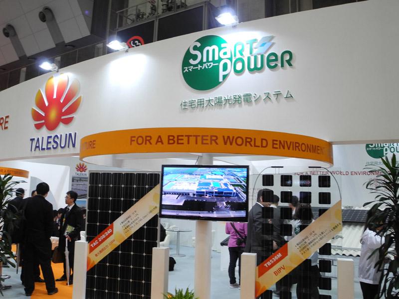 2010年に生産を開始したばかりの中国メーカー「TALLESUN SOLAR(テルサンソーラー)」は、すてきナイスグループの「スマートパワー」が日本で販売を行なう