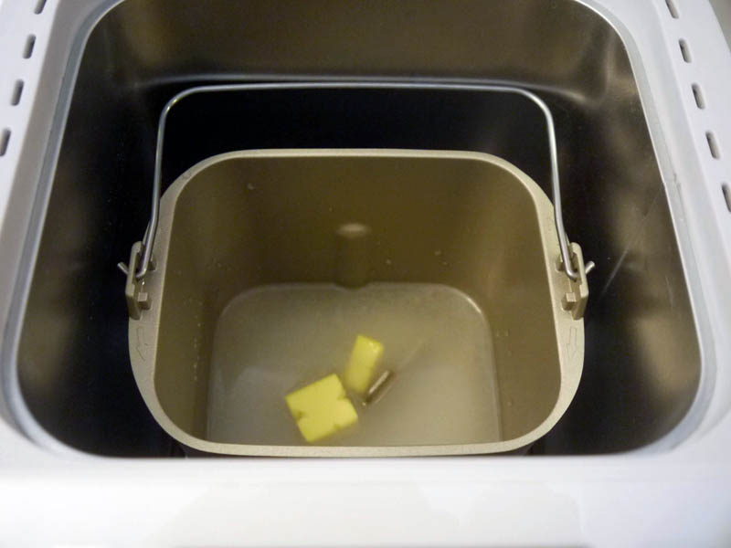 米・砂糖・塩・バター・水は、パンケースに入れてセット