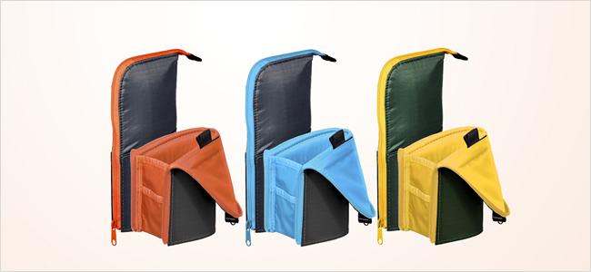 グレー×オレンジ、ダークブルー×ライトブルー、ダークグリーン×イエローの既存3色。広報画像より転載