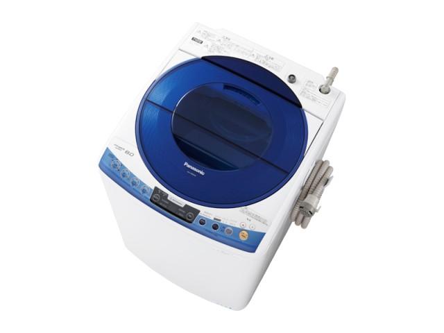 洗濯容量8kgの「NA-FS80H6」。本体カラーはピンクとブルーの2色。写真はブルー