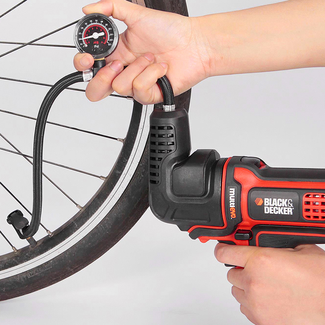 インフレーターヘッドは自転車にも対応する