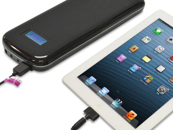 iPadも充電できる。Lightning用ケーブルは付属しない