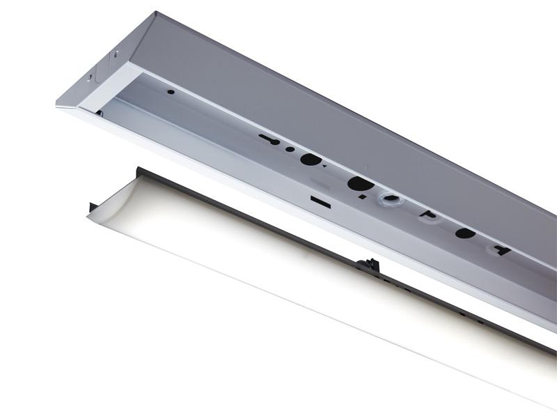 電源内蔵型のLEDユニット「ライトバー」を器具に取り付ける