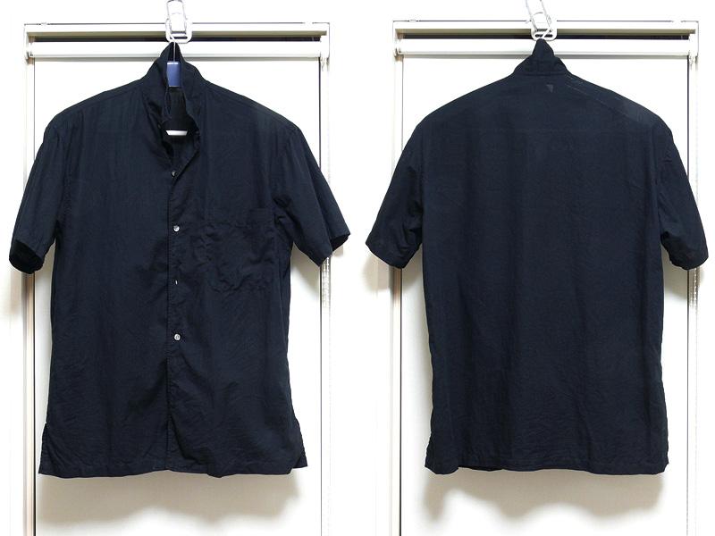 綿と麻の混紡の半袖シャツも用意した。指定設定温度はH(高温)。ラフに着るシャツだが、着ジワとは違い、洗いジワが残っているのは格好いいものではないだろう