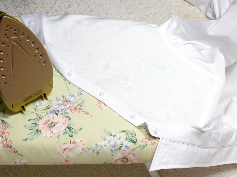 薄い布地でも、アイロンのあたり(アイロンの跡、ムラ)はできにくい。当て布の必要はない