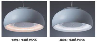 光源をLEDとすることで、4段階の調光と、電球色/昼白色の調色機能も備えた