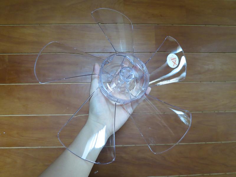 透明プラスチックの5枚羽根