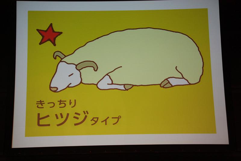 浅田さんの眠りはパーフェクトなヒツジタイプと診断された