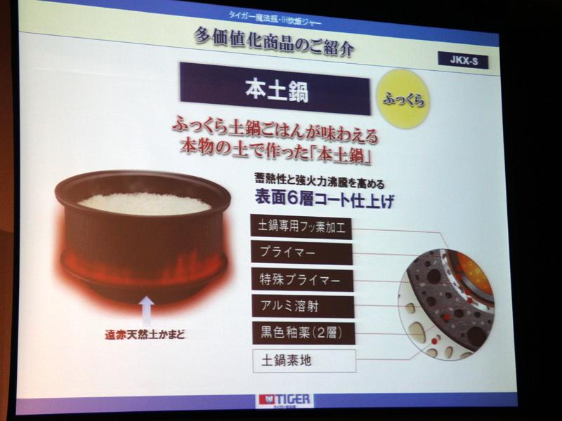本土鍋には、6層のコーティングが施されている