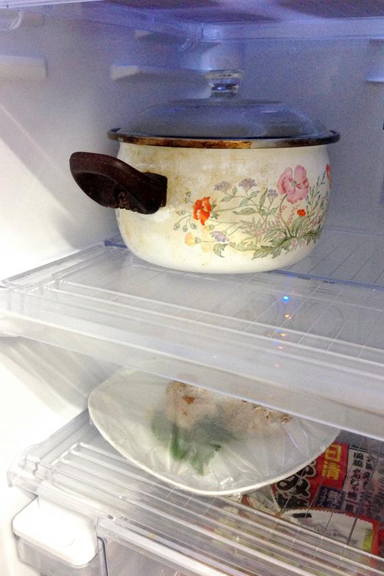 憧れの鍋ごと冷蔵を実践