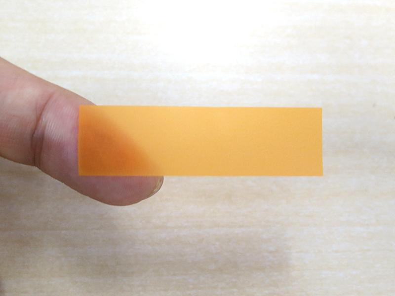 半透明のフィルム素材
