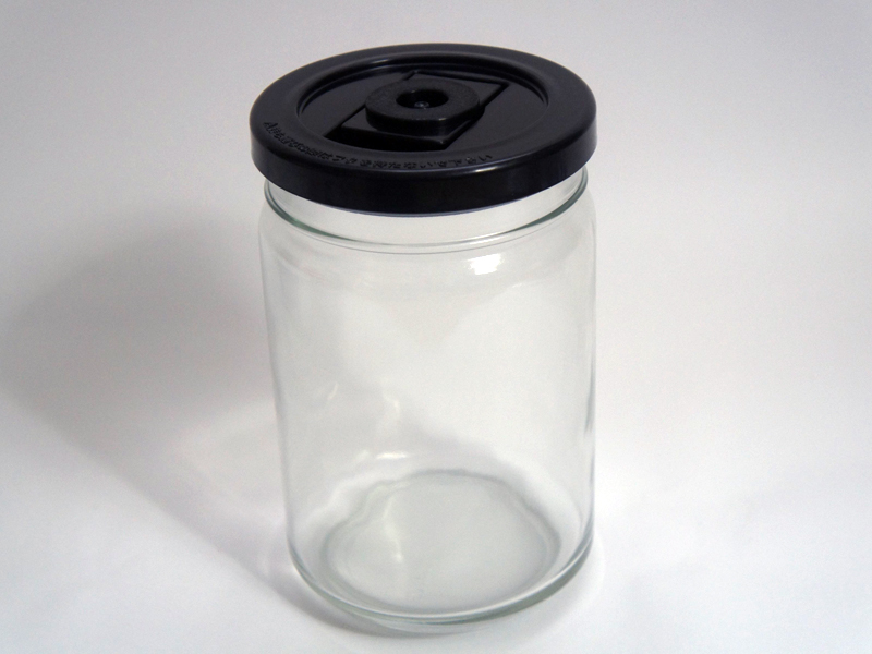 ガラス容器大を準備