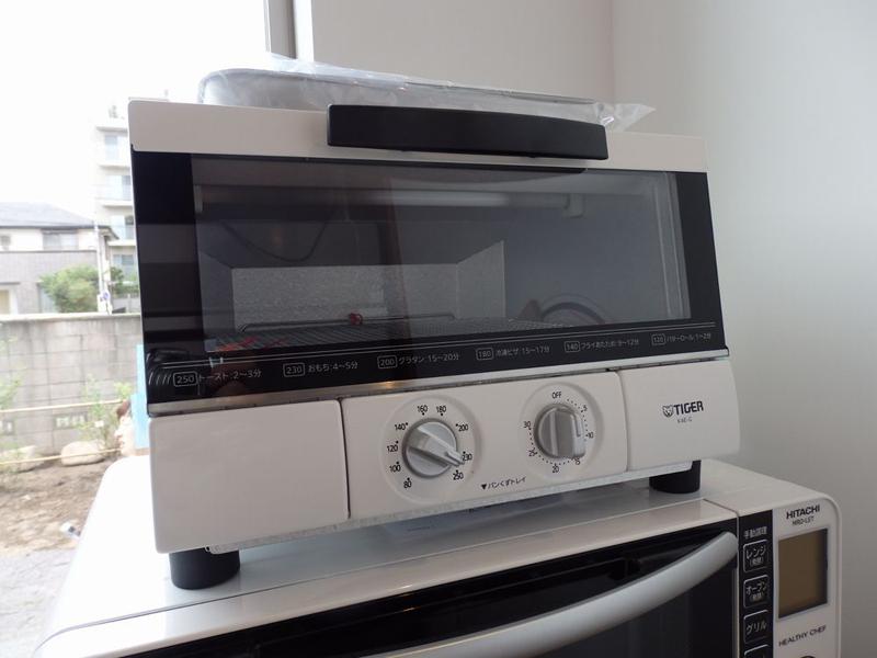 ピザトーストや簡単な焼きもの調理用のオーブントースターに選んだのはタイガーのやきたて KAE-G130