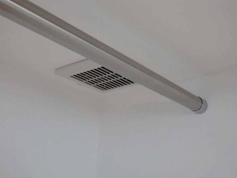 顕熱交換式第一種換気システムによる排気口