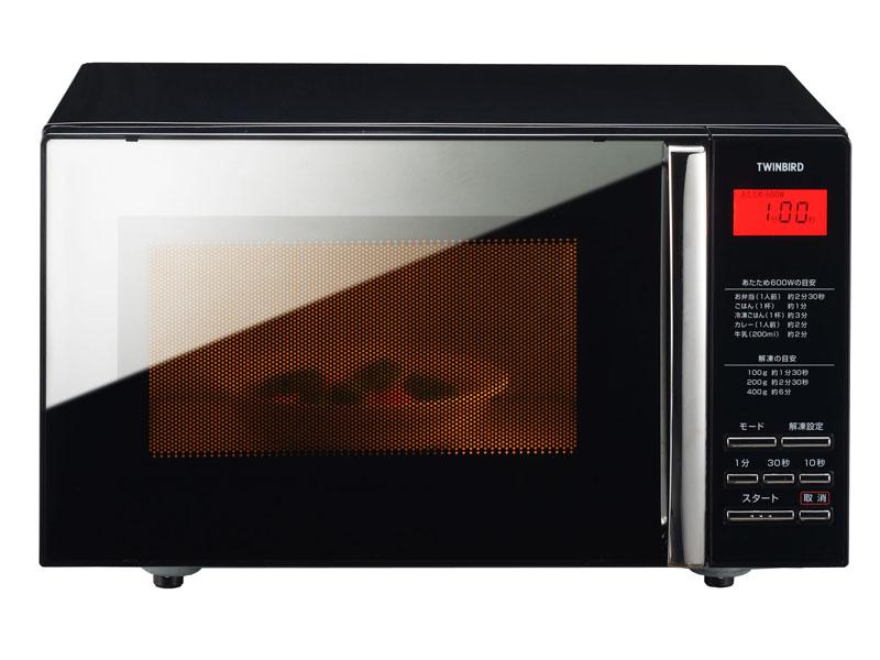 調理中は庫内灯が点灯し、中の様子が確認できる