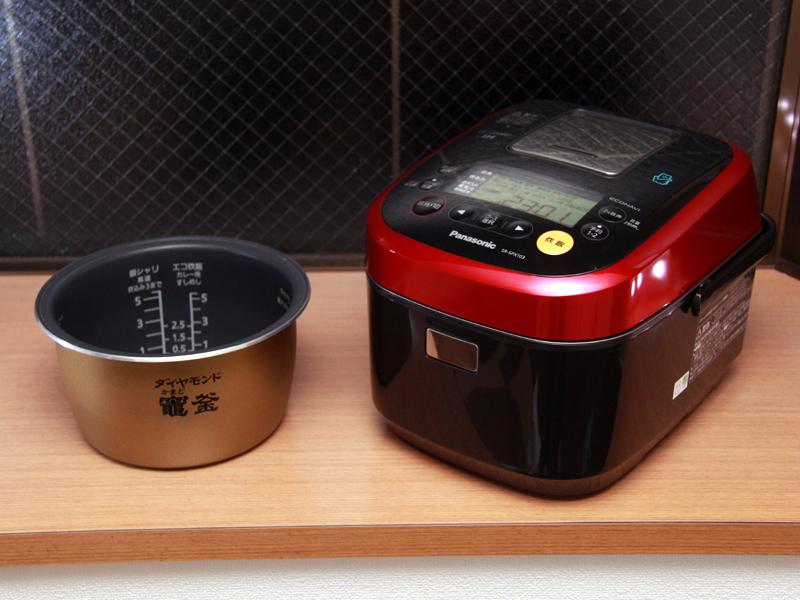 炊飯器本体と内釜