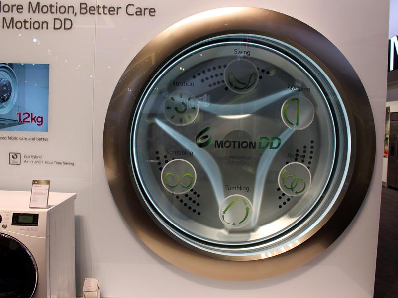 LGのドラム式洗濯機に搭載されている「6モーションDD」