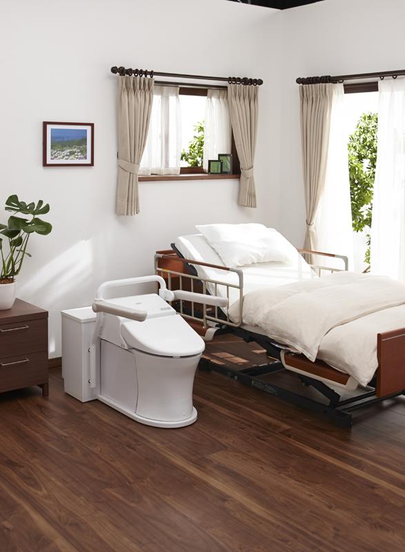 ベッドサイド水洗トイレの設置イメージ