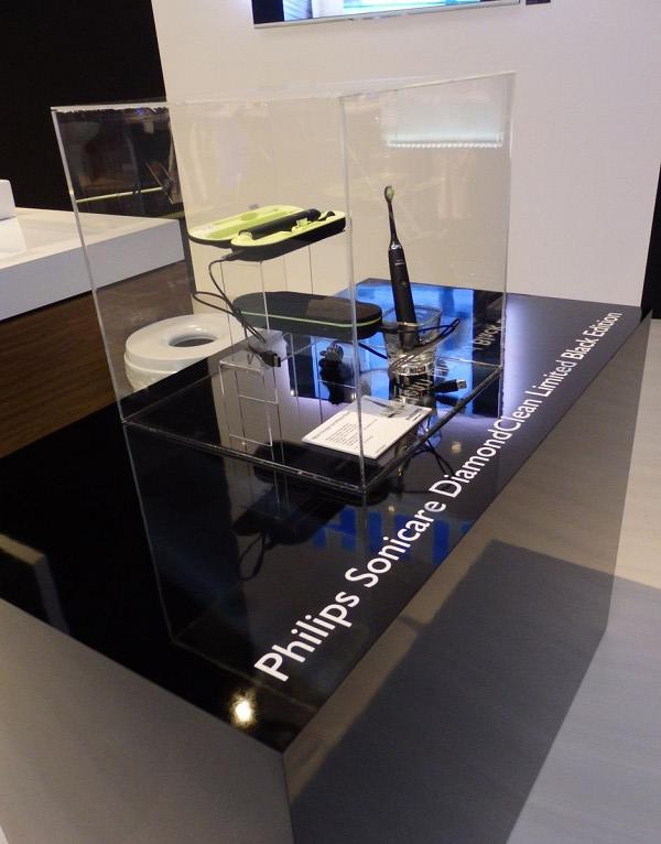 日本でおなじみのソニッケアのブラックモデル「Philips Sonicare Diamond Clean limited Black Edition」も展示されていた