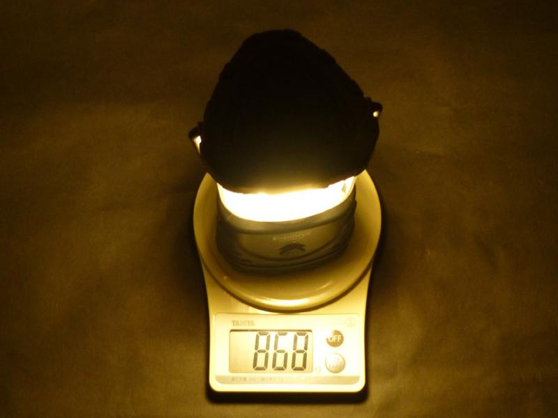 乾電池を入れた状態の重量は868g