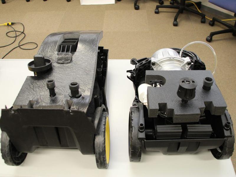 水を通る回路などの内部構造を変えたことで、コンパクト化が実現し、防音材も小さくて済むようになっている