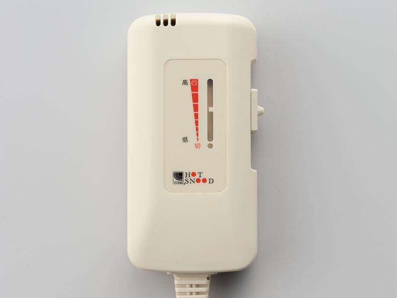 スライド式コントローラーで、無段階で温度を調節できる
